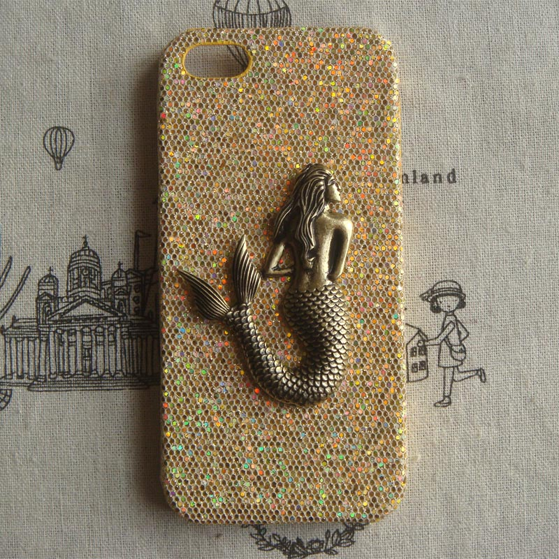 Steampunk Mermaid Gold Bling Glitter Hard Case For Apple IPhone 5 ...